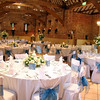 The Main barn set up for a wedding breakfast at Elms Barn
