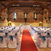 Elms Barn set up for a wedding ceremony