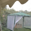 A wet day at Elms Barn from the marquee