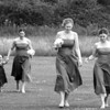 Walking to the ceremony at Elms Barn from Stackyard Lodge