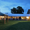 The Additional Marquee at night at Elms Barn during a wedding reception