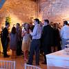 An evening wedding reception at Elms Barn