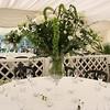Gorgeous table floral arrangements at Elms Barn