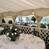 Inside the marquee (with an additional marquee added on) at Elms Barn