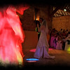 Dancing at Elms Barn with a fake flame machine