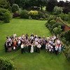 A large group shot taken on the lawns at Elms Barn