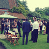 Drinks and Canapees in the gardens at Elms Barn