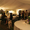 An evening reception in the marquees at Elms Barn