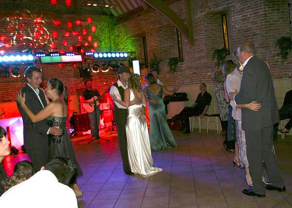 The second dance at an Elms Barn Wedding reception