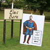 A fab welcome sign for the guests arriving for a wedding at Elms Barn