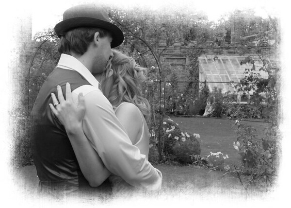 An intimate moment between a bride and groom at an Elms Barn Wedding