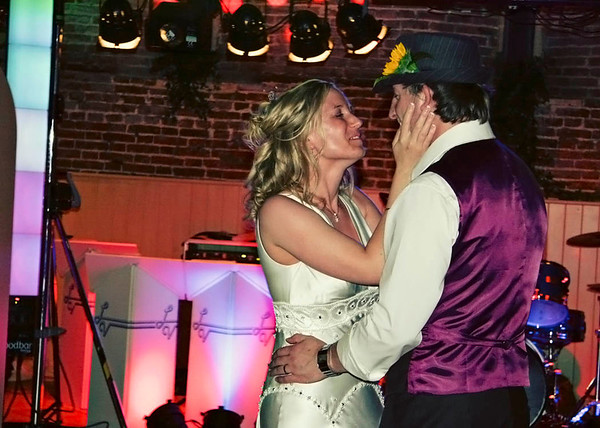 The first dance at Elms Barn to a live band