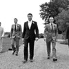 The boys arriving at Elms Barn wanted to do some Reservior Dogs style posing