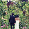 So romantic - I love this walking away photo of a bride and groom at Elms Barn