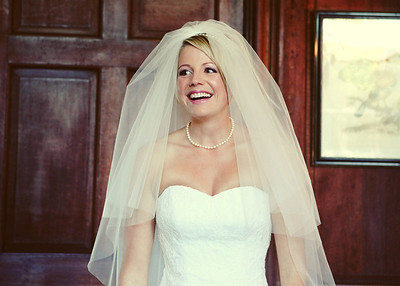 A beautiful bride on her wedding day at Glemham Hall