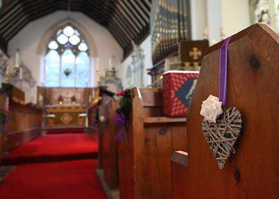 Glemham Church on a wedding day