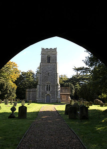 Glemham Church on a wedding day