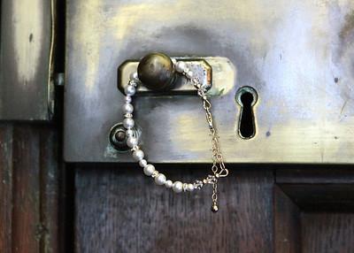 A pretty brides bracelet at a wedding at Glemham Hall