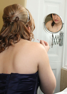 Bridesmaids getting ready at Hintlesham Hall for a wedding