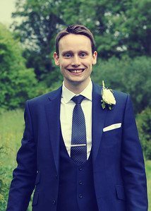 A groom on his wedding day at Otley Hall