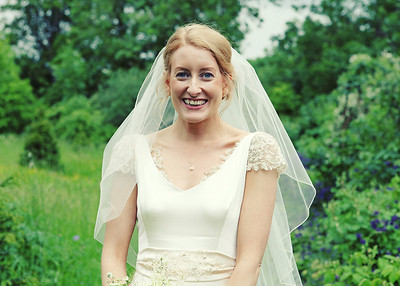A beautiful bride on her wedding day at Otley Hall