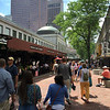 OK, we've feasted on Japanese, now let's explore. The original Quincy Market is the long white building on the left with the dome on top.