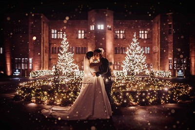 Christmas Wedding in Lake District, abbey House Photographer
