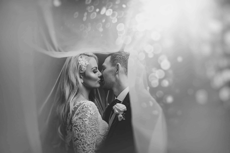 Abbey House Hotel Wedding Photographer. Under the veil shot