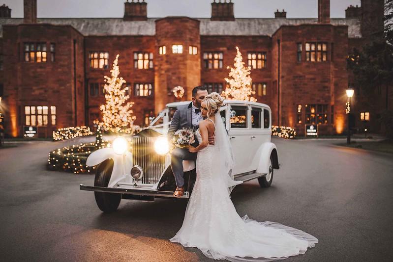 Christmas Wedding in Lake District. Abbey House Wedding Photographer