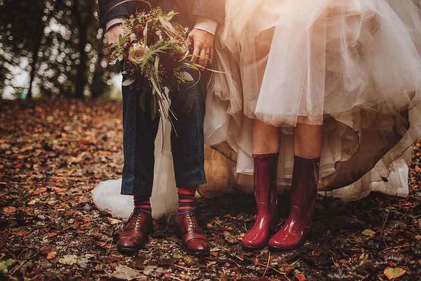 Wedding Wellies. Castle Green Wedding Photographer