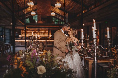 Stunning Boho Wedding photos in Lake District. Hidden River cabins photographer