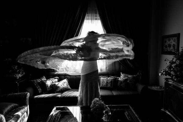 Zeina Kash flying veil, Zahle Lebanon