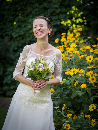 her most happy smile - wedding photographer Berlin
