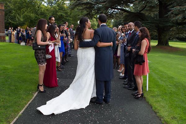 Bride and groom confetti walk, Camden Place Camden Park Road, Chislehurst, Kent