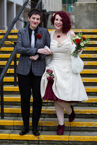 Happy newly wed couple in Brighton