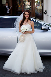 Bride arriving at Brighton wedding