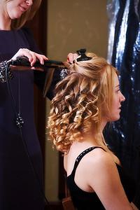 Getting ready - hair first