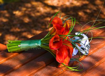A boquet, from a summer wedding