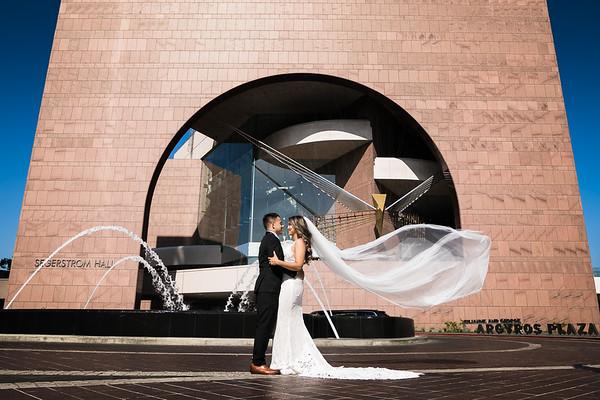 Avenue of the Arts   Costa Mesa Wedding   LInda and Eugene