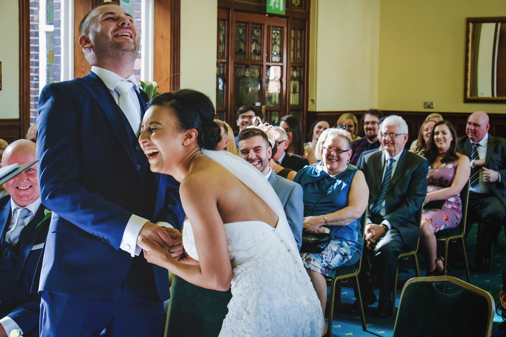 Giggles at the wedding