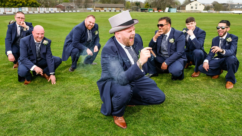 Wedding Party at Colne Cricket Club