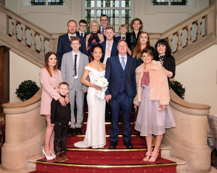 Family Group Wedding Photograph
