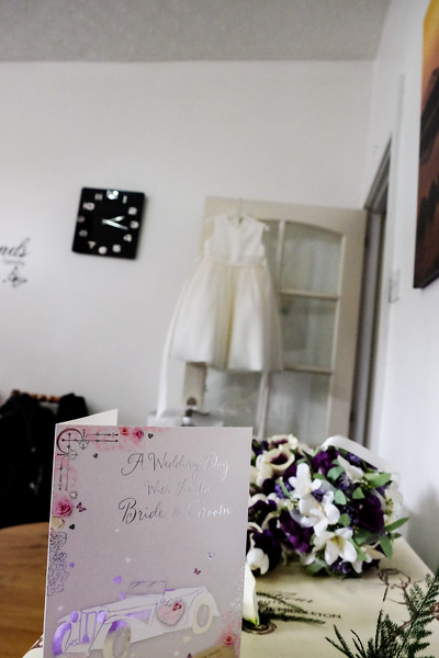 Wedding card with dress