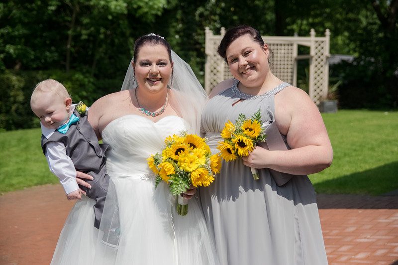 Bride , Bridesmaid and Page Boy.