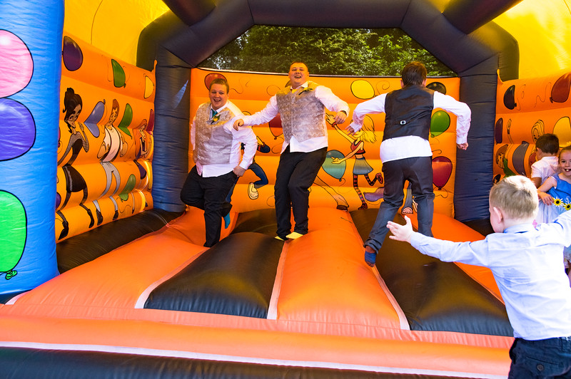 Ushers on Bouncy Castle