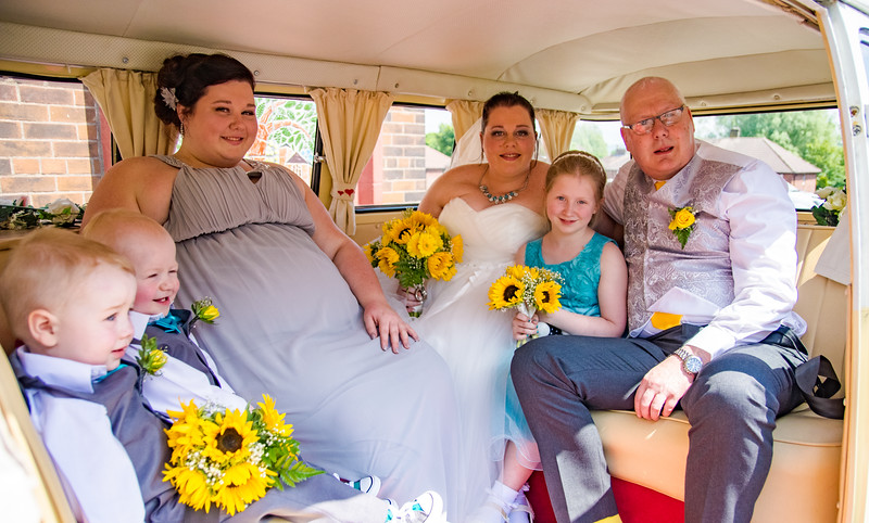 Bridal party in Camper Van