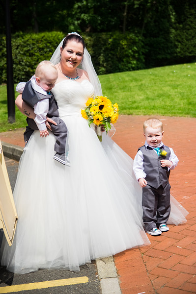 Bride and Two Page boys