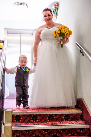 Bride and Page Boy.