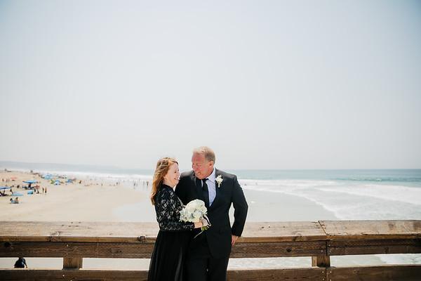 Lauren and Mike   Newport Beach Pier   Intimate Wedding