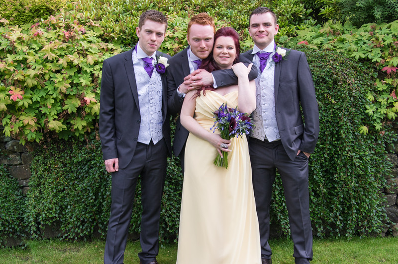 Groom , Best Man , Brides Maid  and Brother.